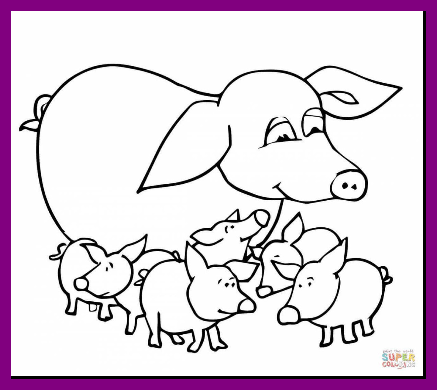 1390x1240 Shocking Brilliant Wild Pig Coloring Pages With Pict Of Styles