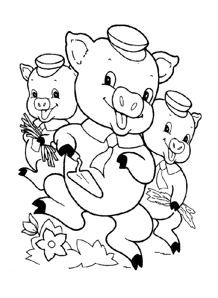 733x1000 Three Little Pigs Coloring Pages