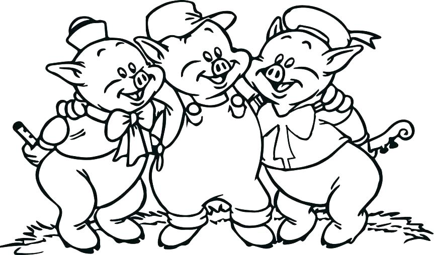 863x508 Three Little Pigs Houses Coloring Pages Kids Coloring Coloring
