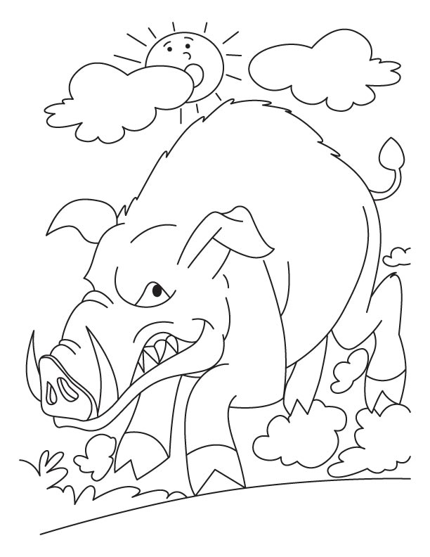 612x792 Anguish Wild Boar Coloring Pages Download Free Anguish Wild Boar
