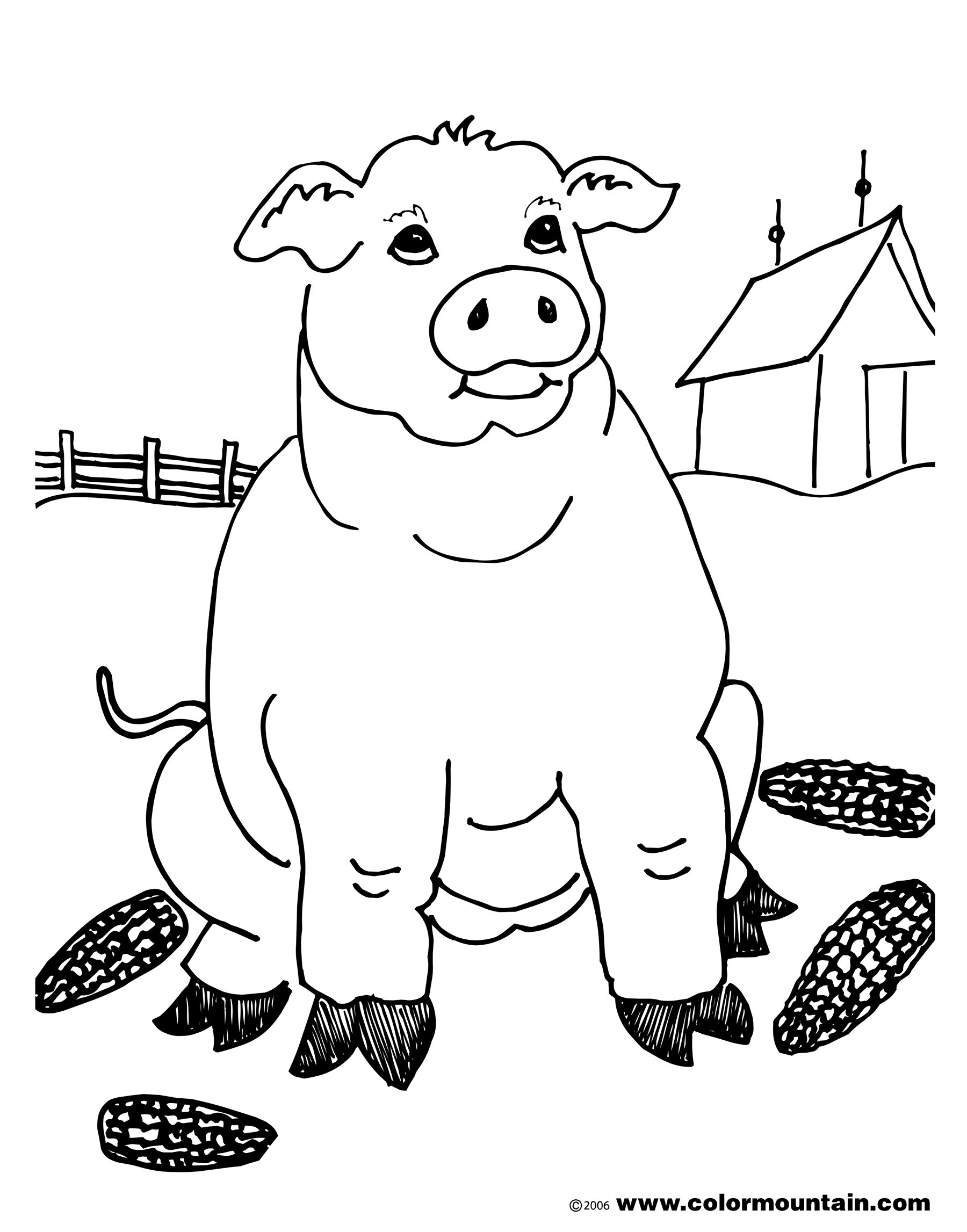 1800x2294 Wild Hog Coloring Page Pages