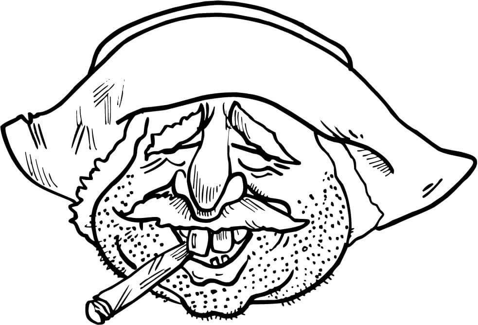 983x668 Mexican Man Have Smoking A Cigar Coloring Page