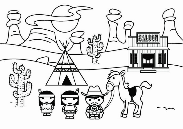 750x531 Awesome Inspiration Ideas Wild West Coloring Pages For Kids
