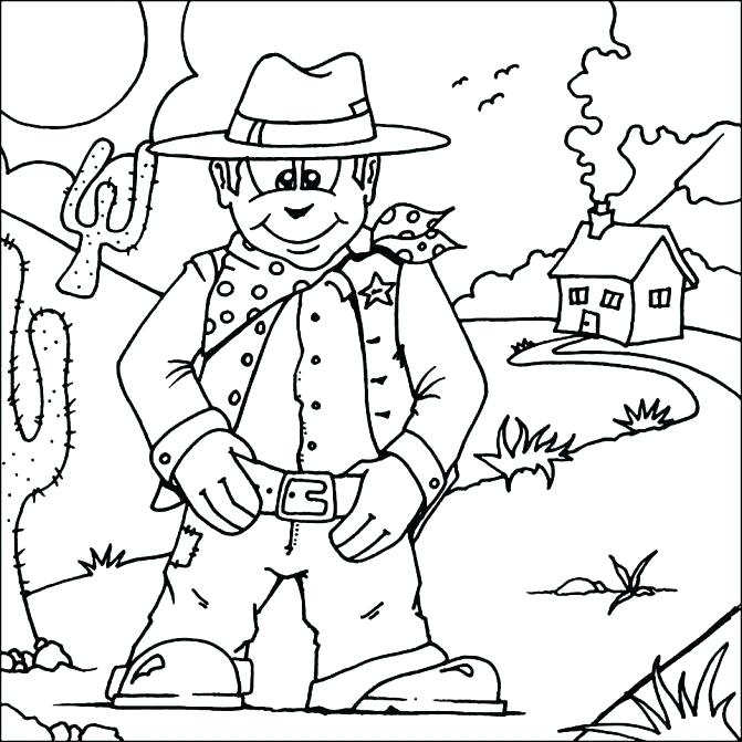 671x671 Sheriff Callie Printable Coloring Pages Wild West Coloring Page