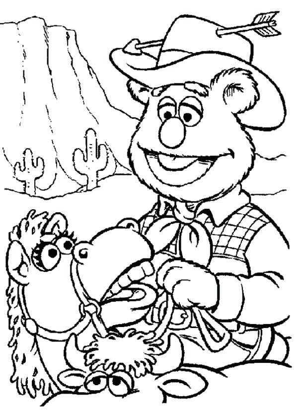 600x837 Old West Coloring Pages