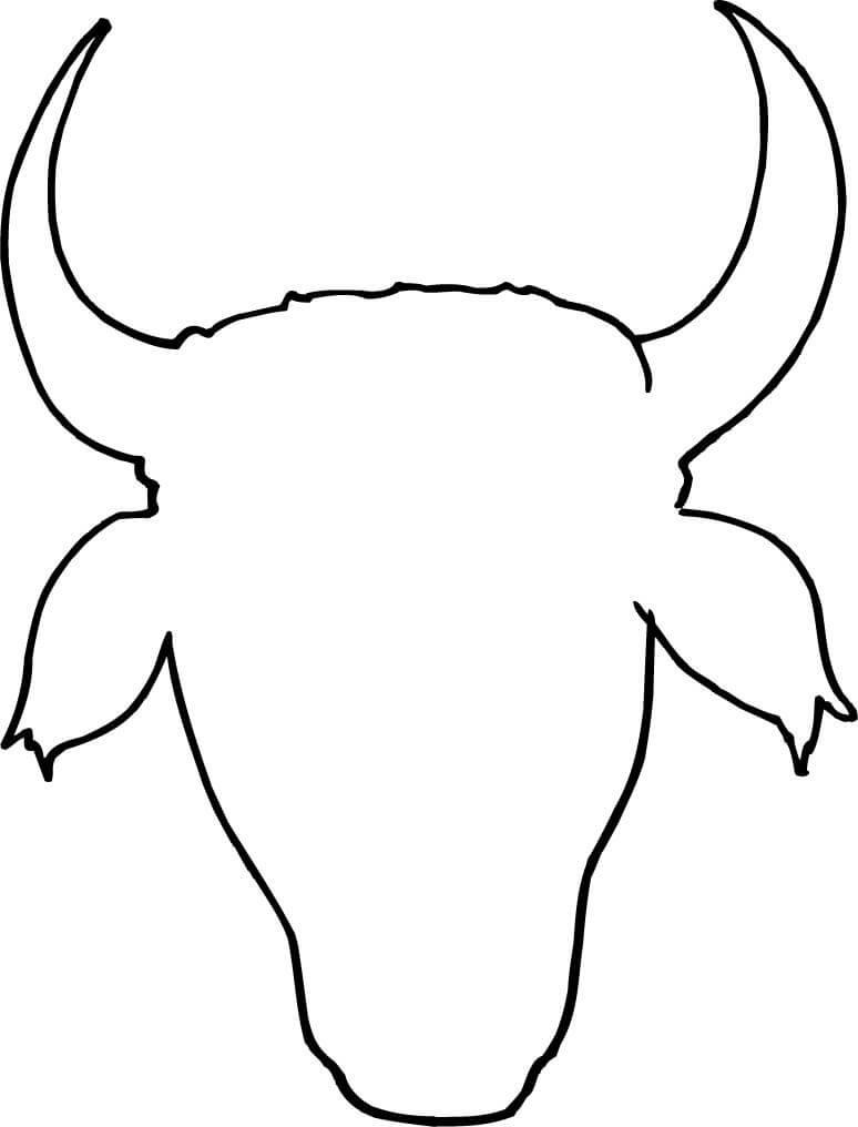 774x1016 Cow Head Outline Design Coloring Page