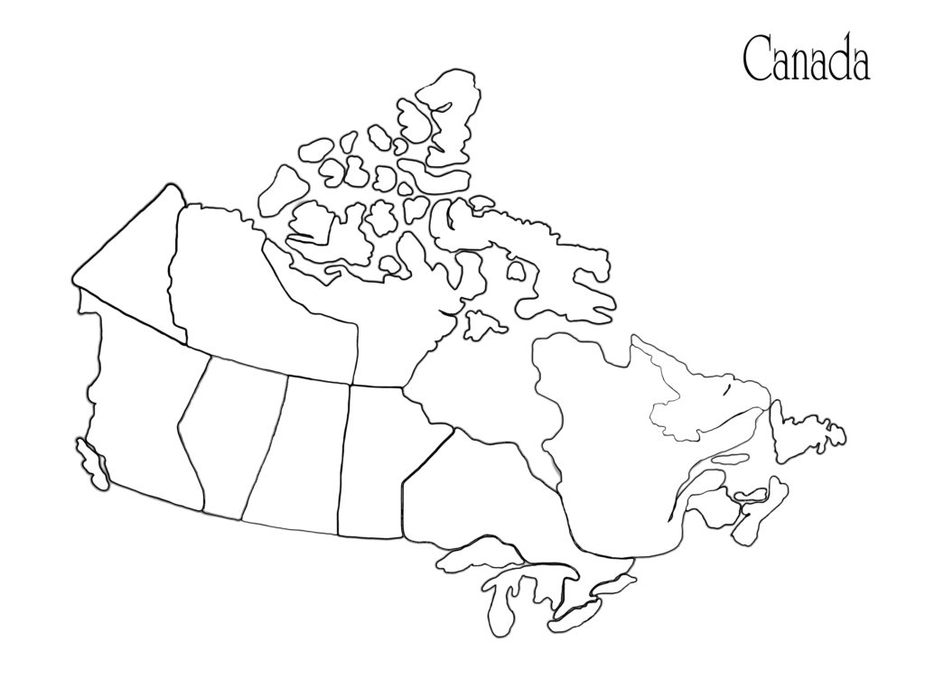 1024x773 Canadian Wilderness Map Coloring Pages In Canada Parliament Hill