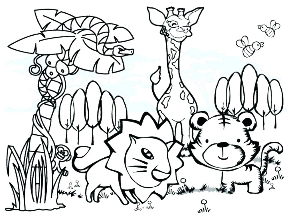 1020x768 Wildlife Coloring Pages