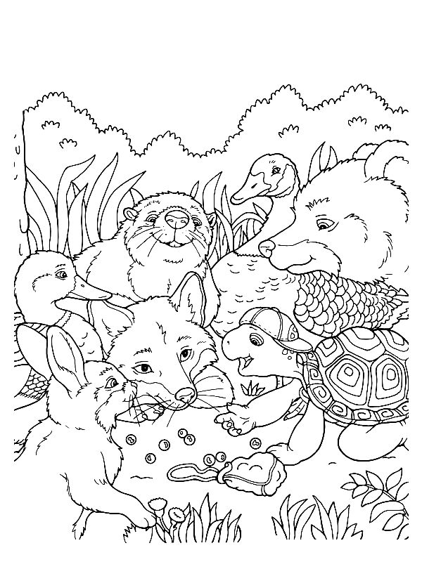 Wildlife Coloring Pages Printable
