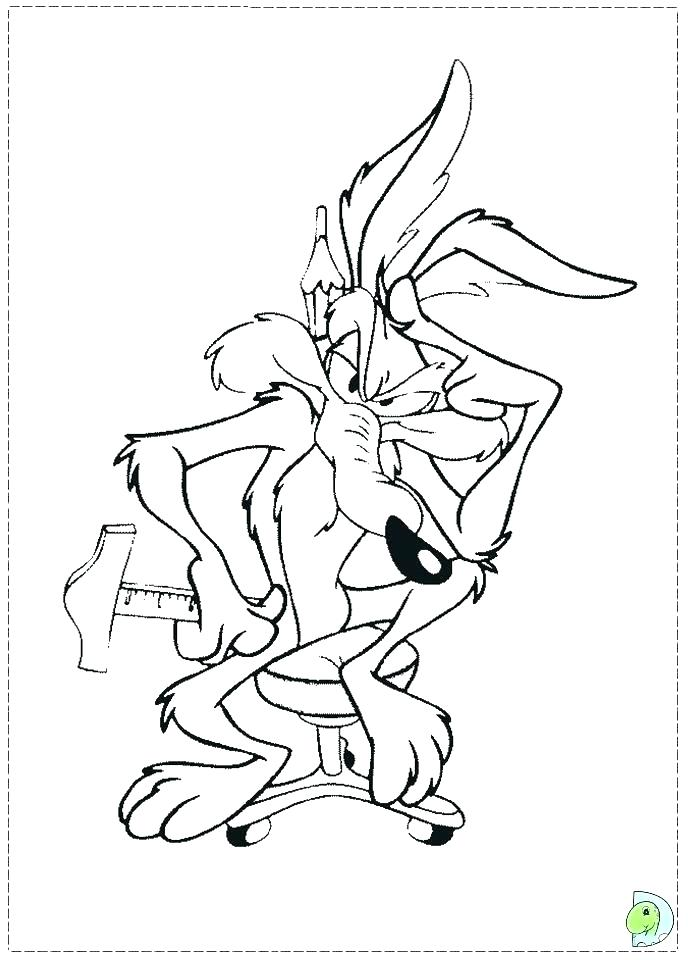 Wile E Coyote Coloring Pages