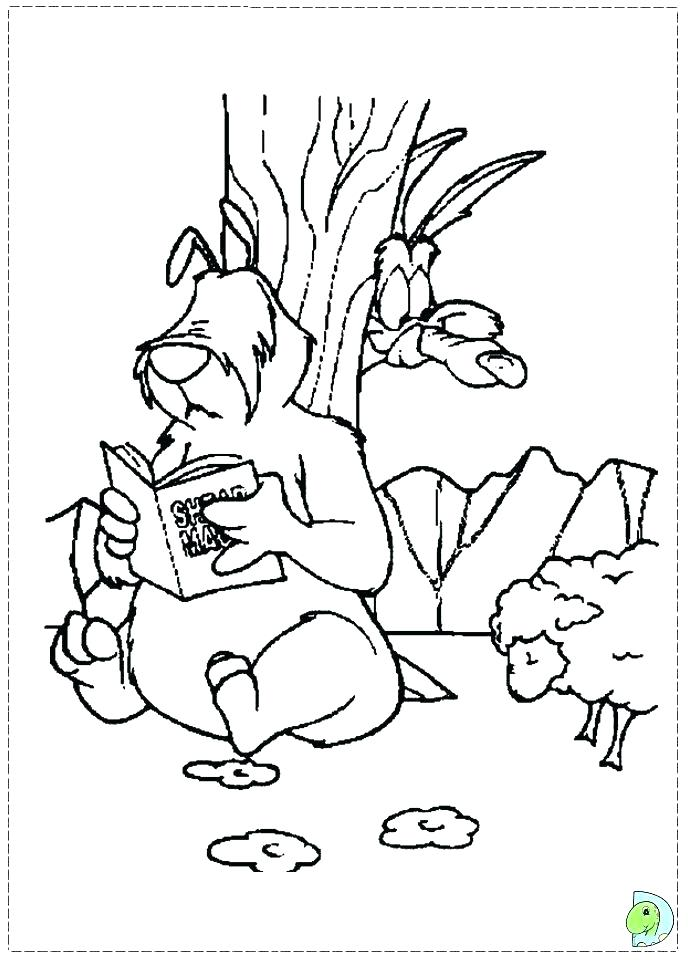 691x960 Wile E Coyote Coloring Pages Top Rated Coyote Coloring Page Images