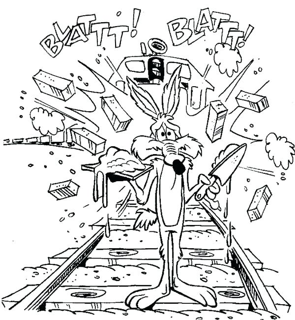 600x650 Wile E Coyote Coloring Pages Wile E Coyote Fail Chasing Roadrunner