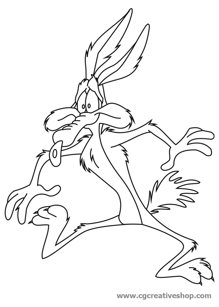 720x1008 Wile E Coyote Coloring Pages
