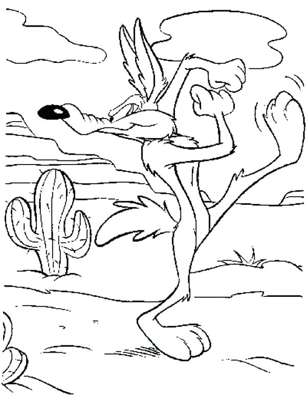 600x773 Coyote Coloring Pages