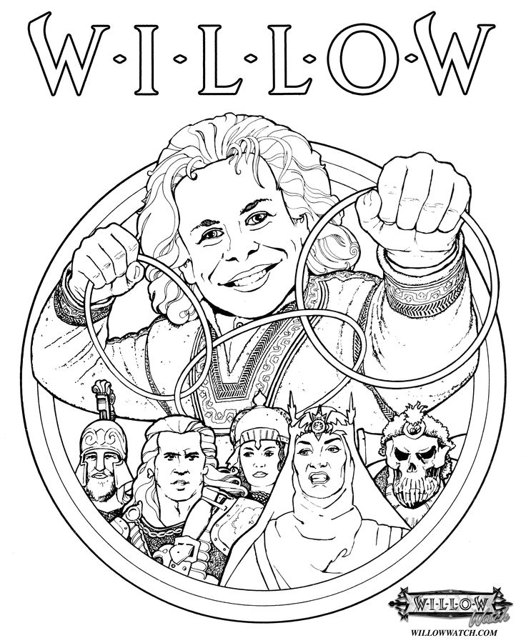 Willow Coloring Pages