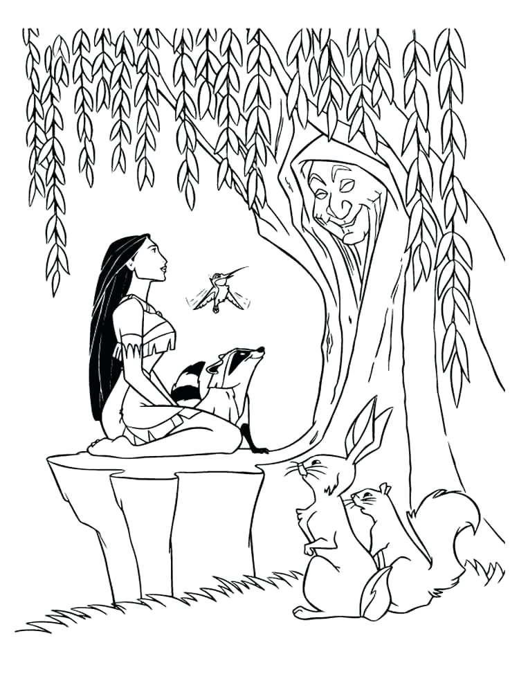 750x1000 Coloring Pages Download And Print Historical Pocahontas Murs