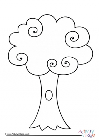 320x452 Willow Tree Colouring Page