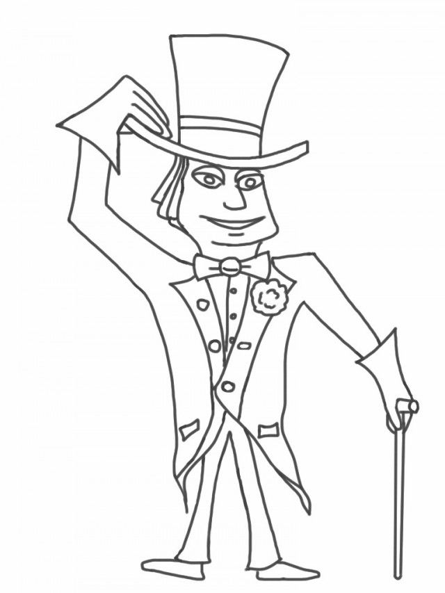 Willy Wonka Coloring Pages