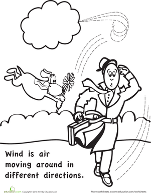 Wind Coloring Page