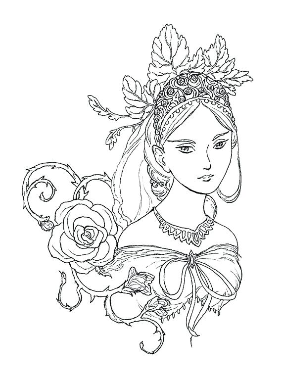 570x770 Idea Wind In The Willows Coloring Pages And Fairy Queen Portrait
