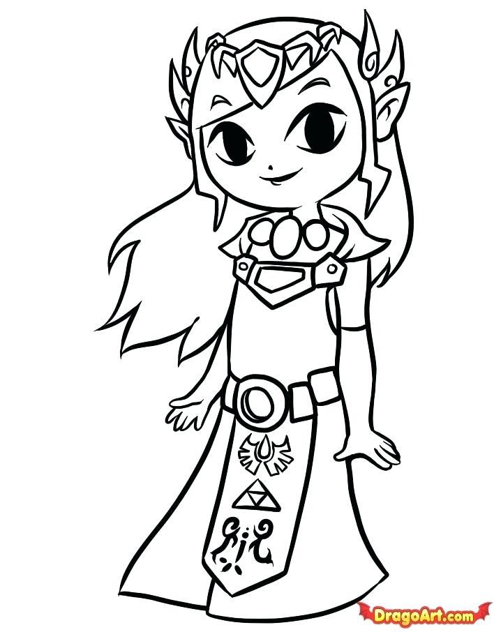 708x906 Legend Of Zelda Wind Waker Coloring Pages Legend Of Wind Coloring