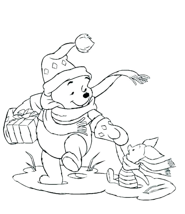 768x889 Piglet Coloring Page Piglet On Ice Piglet Is Caught