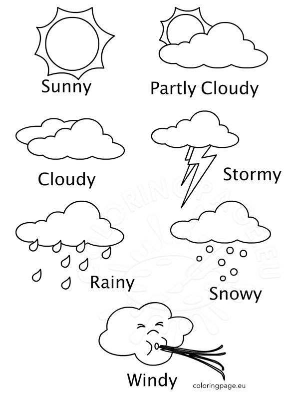 595x793 Top Weather Coloring Pages