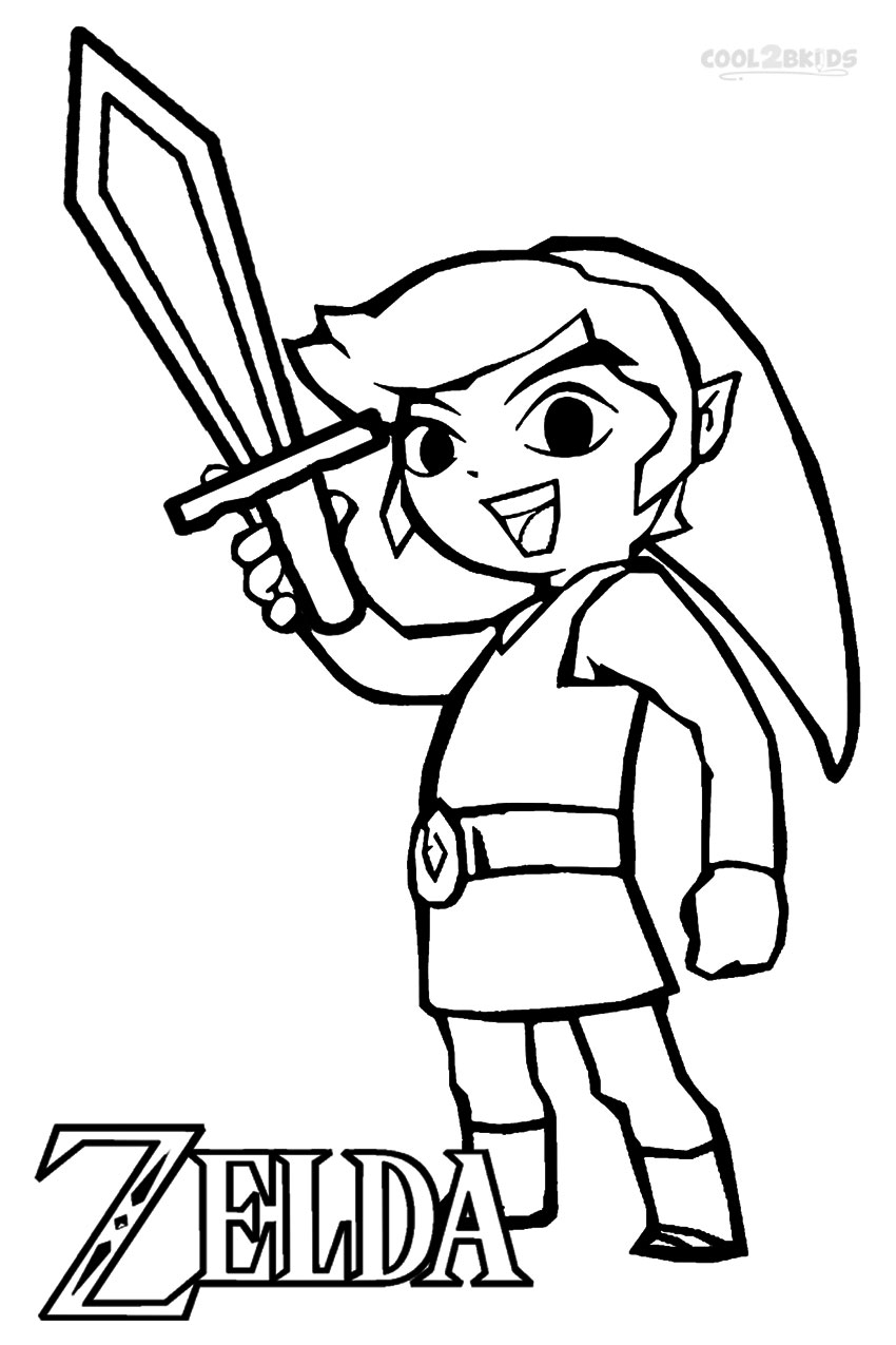 850x1275 Wind Waker Link Coloring Pages Printable Coloring For Kids