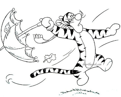 500x403 Tigger In The Wind Coloring Page Huixin Ng