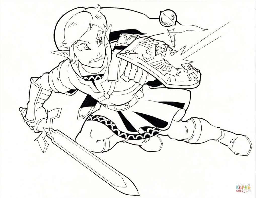 1017x786 Toon Link From Legend Of Zelda Wind Waker Coloring Page Free Toon