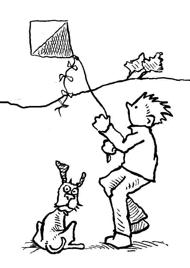 620x875 Coloring Page Kite
