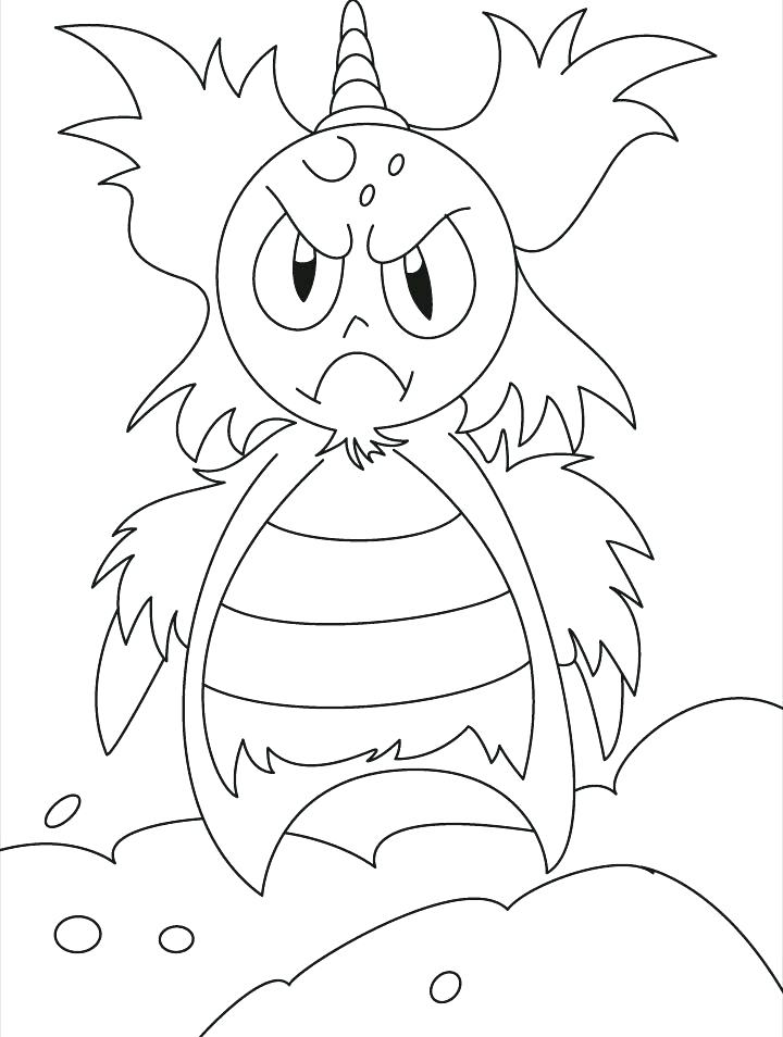 720x954 Energy Coloring Pages Monster Coloring Pages This Angry Monster Is