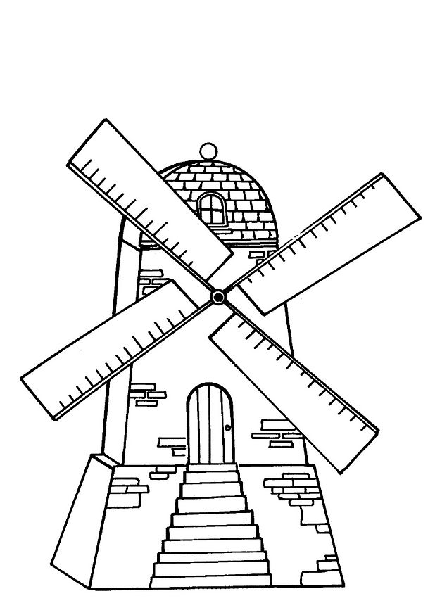 618x874 Kids N Coloring Pages Of Windmills