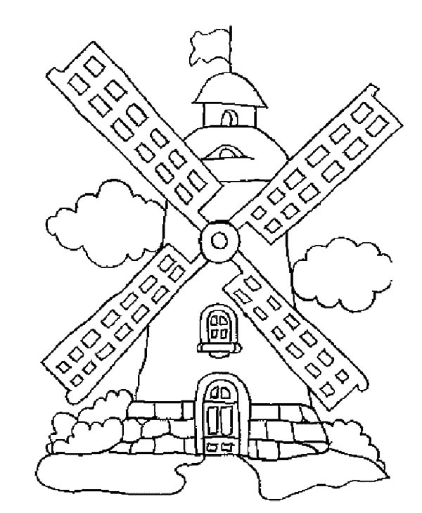 600x729 Wind Power Windmills Coloring Pages Batch Coloring