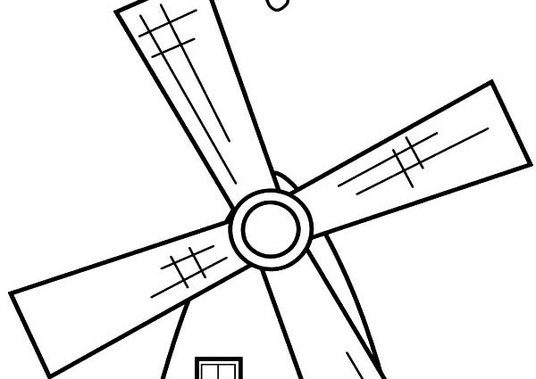 600x425 Coloring Pages Windmill Netherlands Windmills Coloring Pages Batch