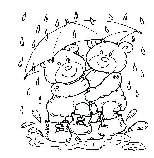 584x600 Rainy Day Coloring Page Rainy Day Coloring Page Coloring Trend