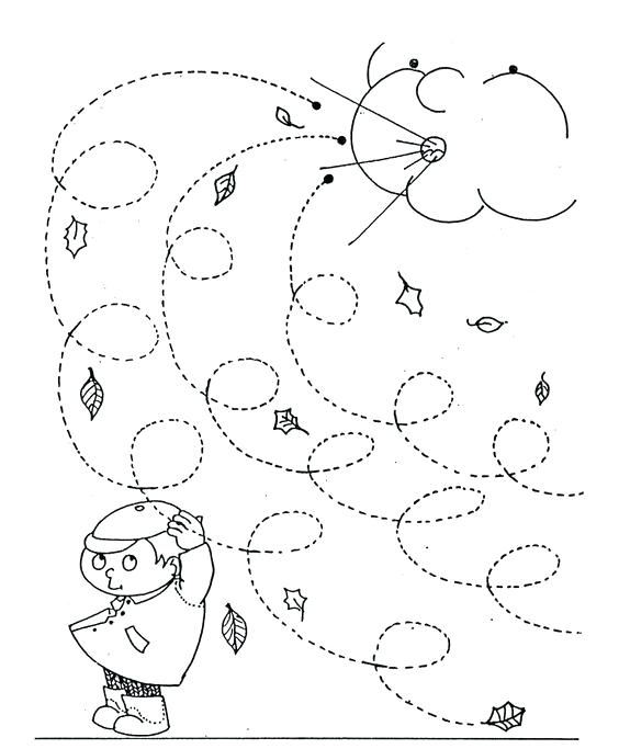 564x683 Windy Day Coloring Pages Fall Windy Day Line Worksheet For Kids