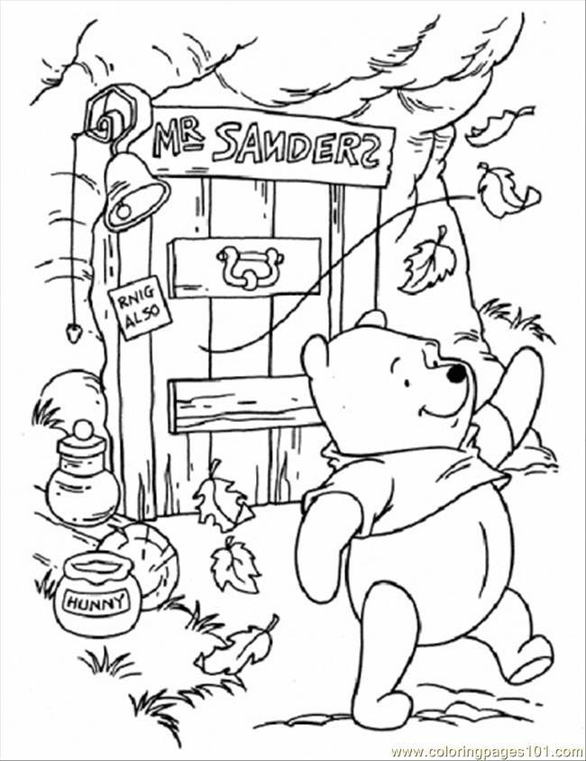 650x844 Free Coloring Autumn Day Free Printable Coloring Page Pooh
