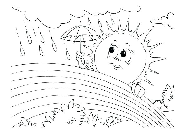 600x425 Coloring Page Sun Rainy Day Coloring Pages Sun And Rain Coloring