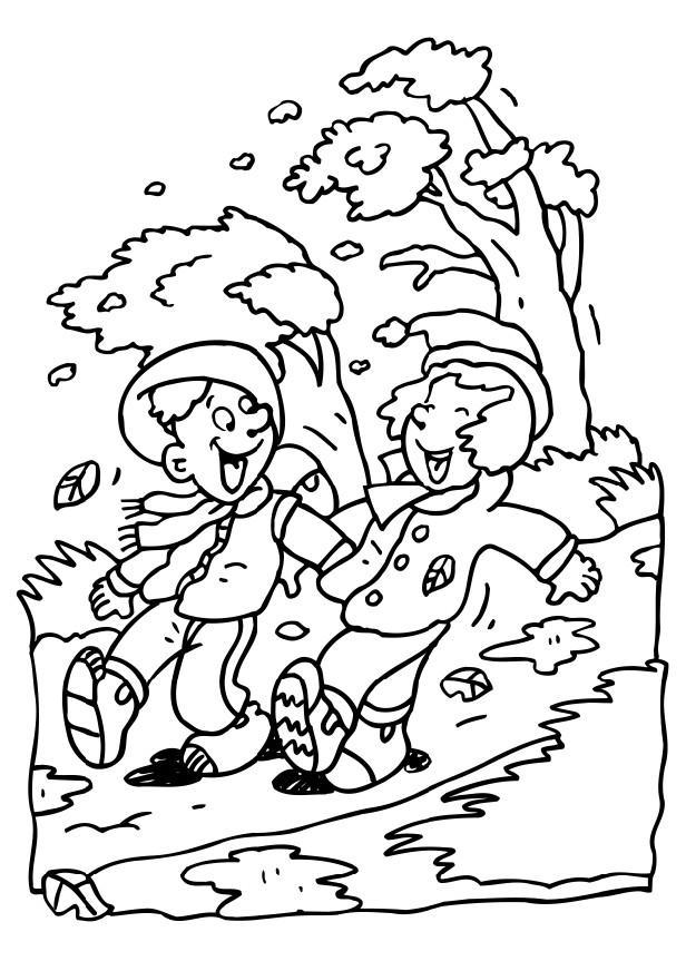 616x872 Coloring Page Windy Day