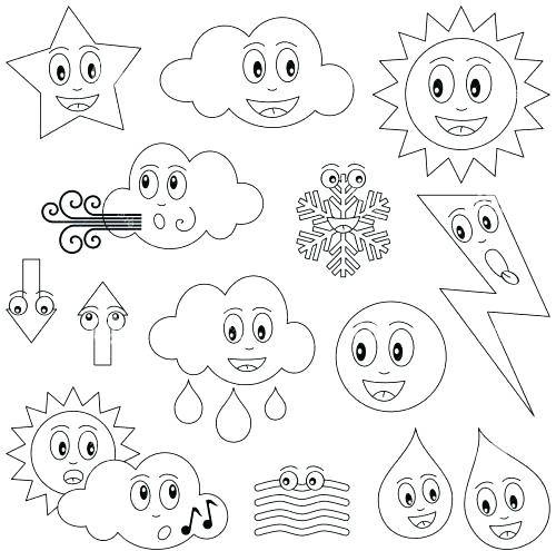 500x495 Weather Color Pages Free Weather Coloring Pages Weather Color