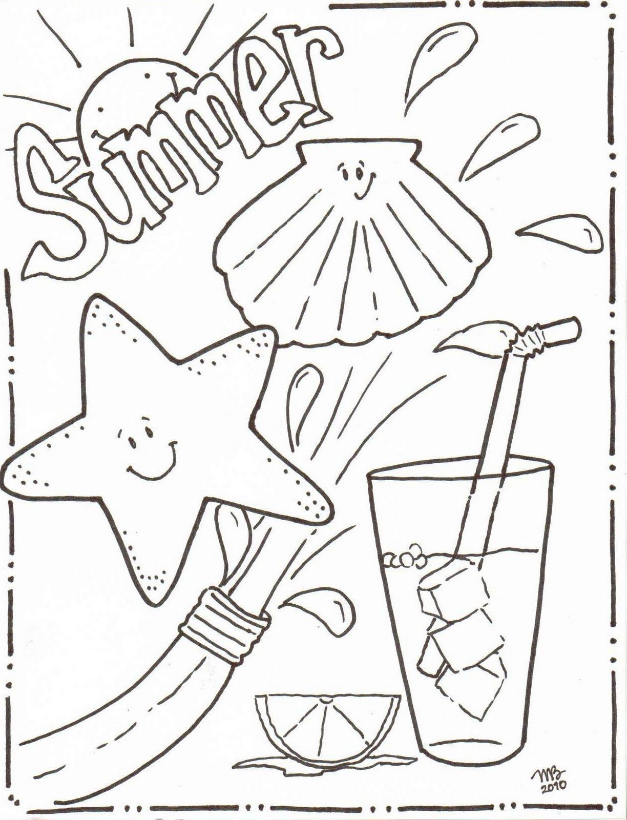 1224x1600 Michelle Kemper Brownlow Summer Coloring Pages