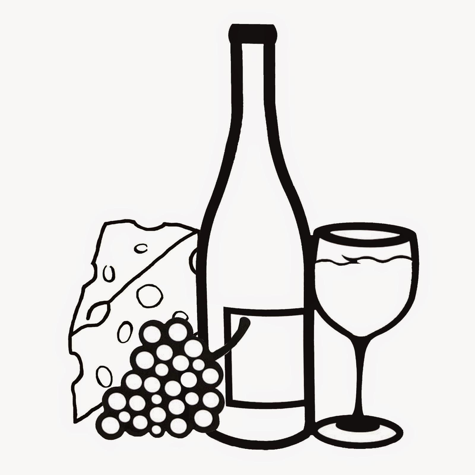 1600x1600 Bottle Of Wine Drawing