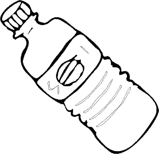 675x652 Wine Bottle Coloring Pages Water Bottle Coloring Page Photo