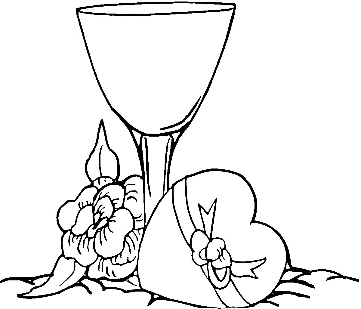 1200x1027 Wine Glass Coloring Page