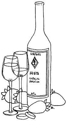220x400 Wine Bottle Digital Stamp Images Bottle, Wine
