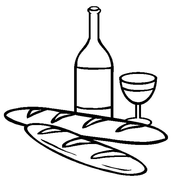 600x612 Bread And Wine Coloring Pages Best Place To Color