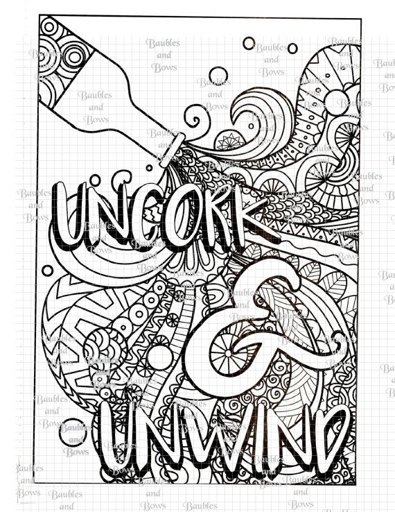 Wine Coloring Pages