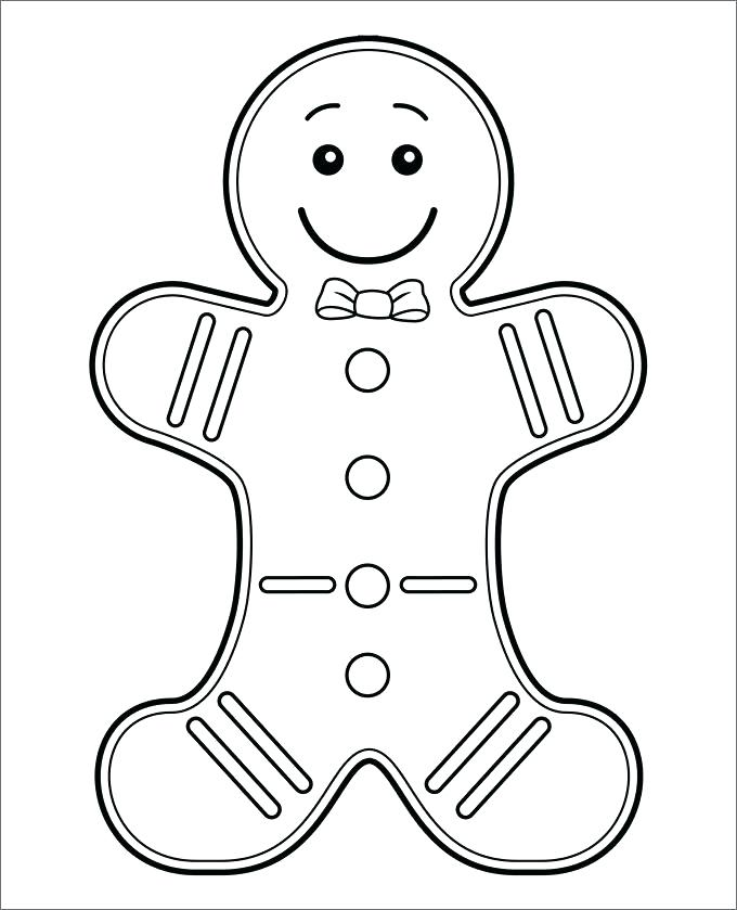 680x839 Coloring Pages Gingerbread Man Ginger Bread Man Template Colouring
