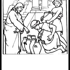 268x268 A Turn Pictures Into Coloring Pages Ideal Jesus Turns Water Into